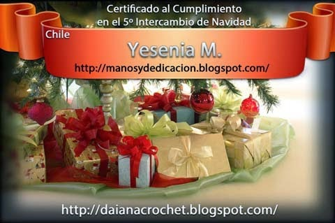 Certificado Intercambio Navideño 2013