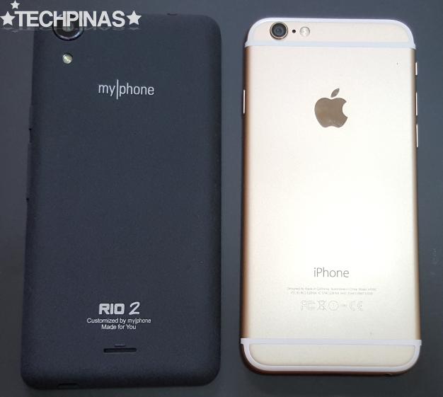 MyPhone vs Apple, MyPhone Rio 2 vs Apple iPhone 6
