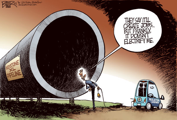 cartoon president obama kills jobs
