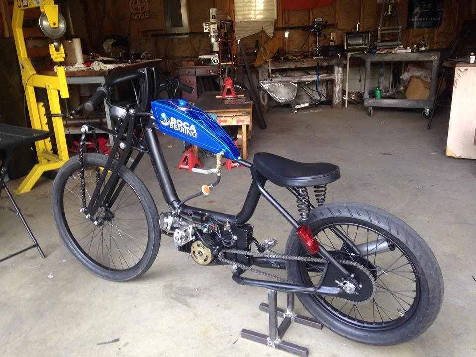 custom moped two stroke racer