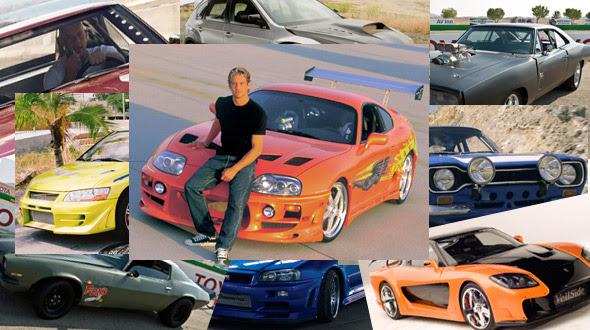 Paul Walker posing with his car