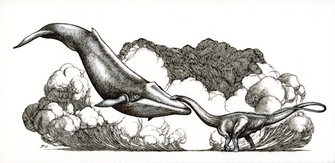 'It's your turn now.' Dippy and the Blue Whale