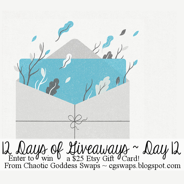 12 Days of Giveaways ~ Day 12: $25 Etsy Gift Card