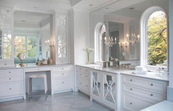 Delicious decor wonderful white bathrooms - Kitchen cabinet toe kick options ...
