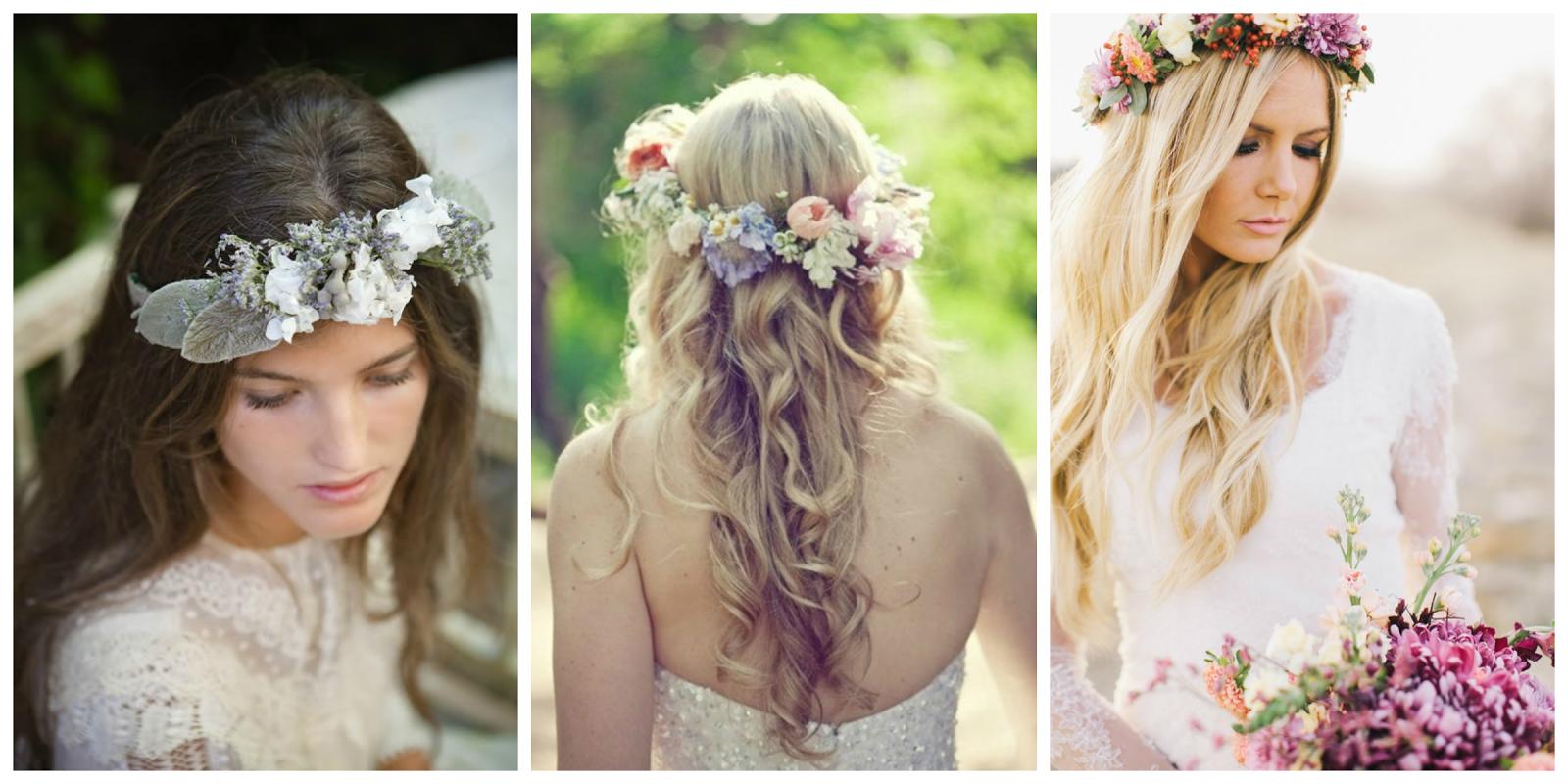 peinados con flores naturales - 5 formas de llevar flores naturales en tu peinado de novia Zankyou