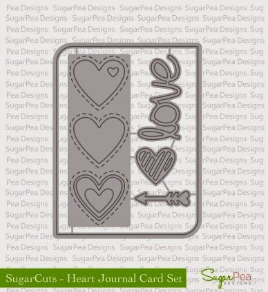 Heart Journal Card SugarCuts Die Set