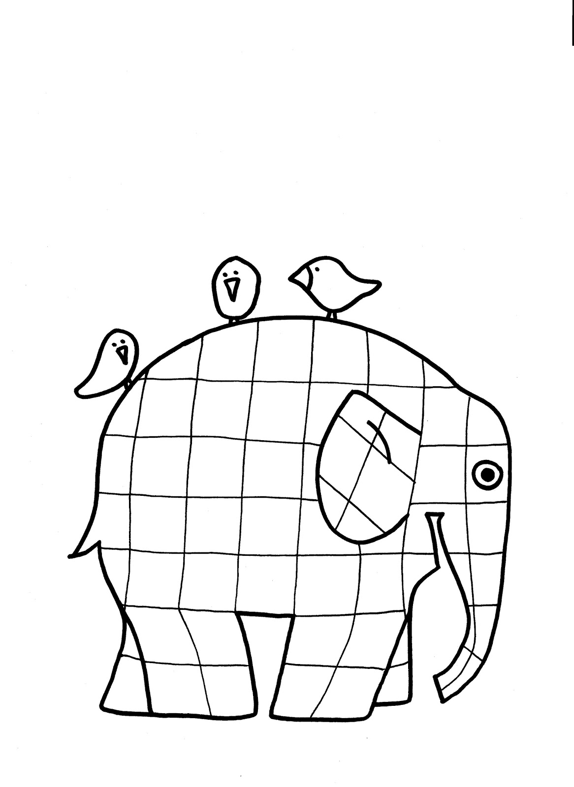 Elmer The Patchwork Elephant Coloring Page Lines Across Elmer Elephant Coloring Page