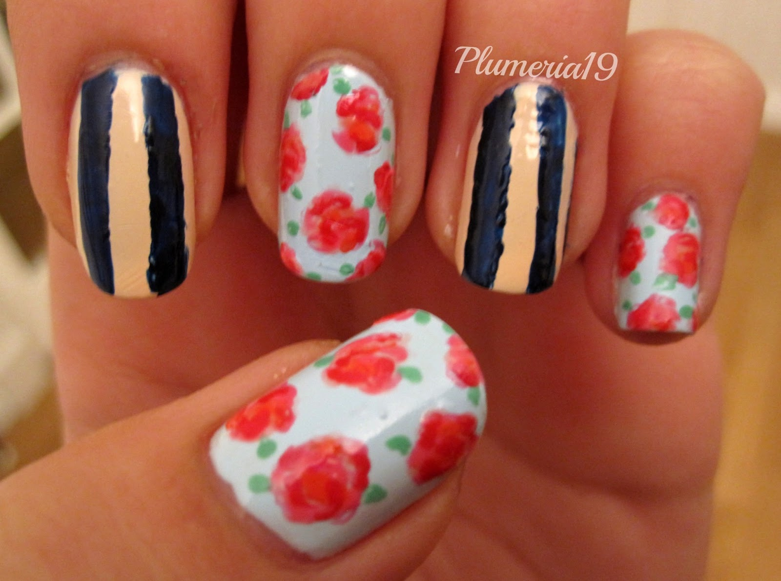 PlumeriaPainted: Love-ly Nail Art Challenge - Roses