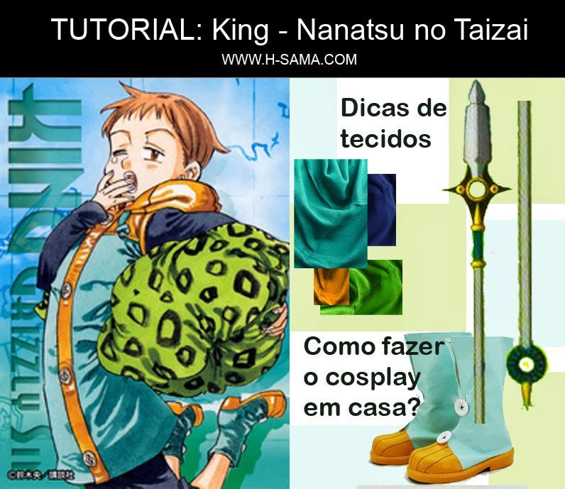 HSAMAblog: TUTORIAL cosplay King - Nanatsu no Taizai ( キング