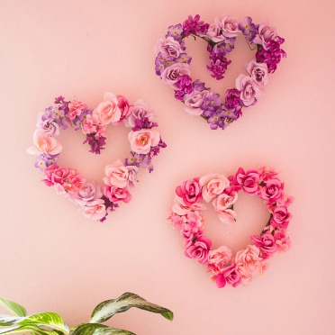 Beautiful (and simple!) floral hearts