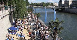 Holiday Fans travel the World RTW -family activities Budget Travel Paris Plages - Paris Beach in Paris