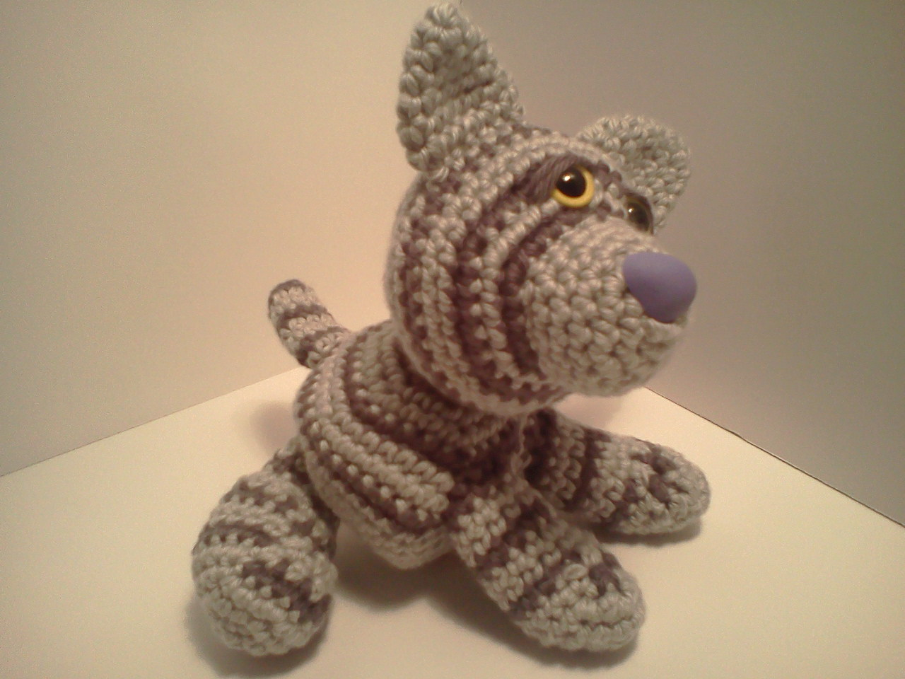 Amigurumi Stuffing Material : Serendipity Creative: Emily Baby Silver Tabby Cat AmiPal ...