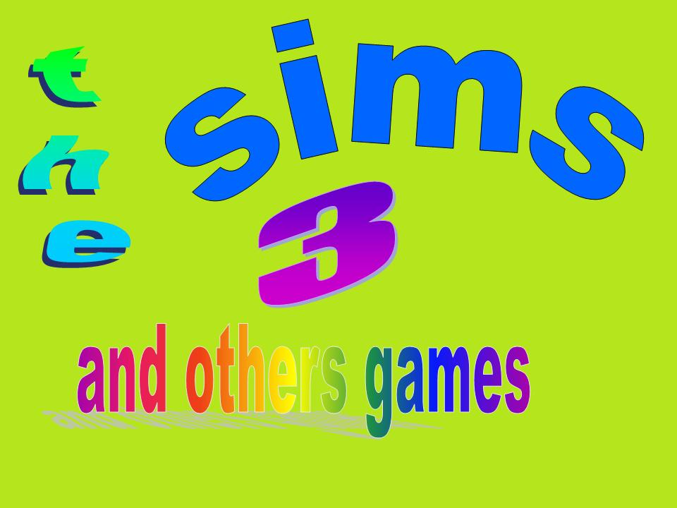 the sims 3 and others games