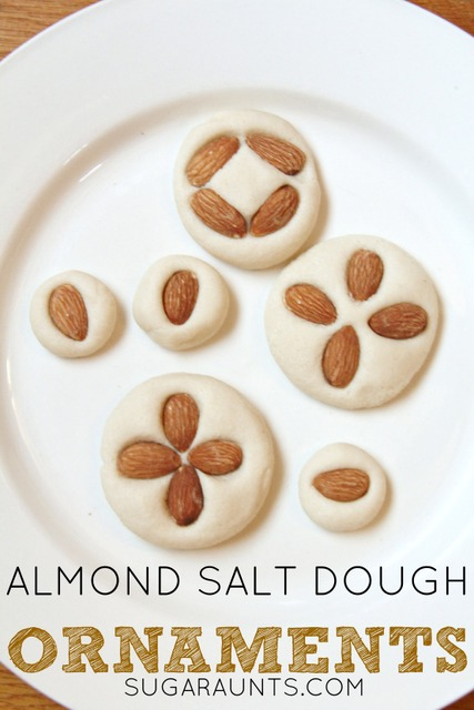 Almond scented salt dough recipe for Christmas ornaments.  These smell fantastic!