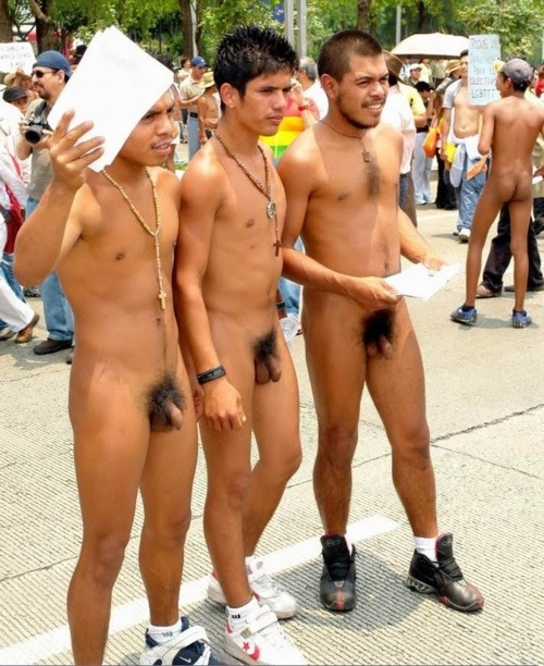 Boys naked in public