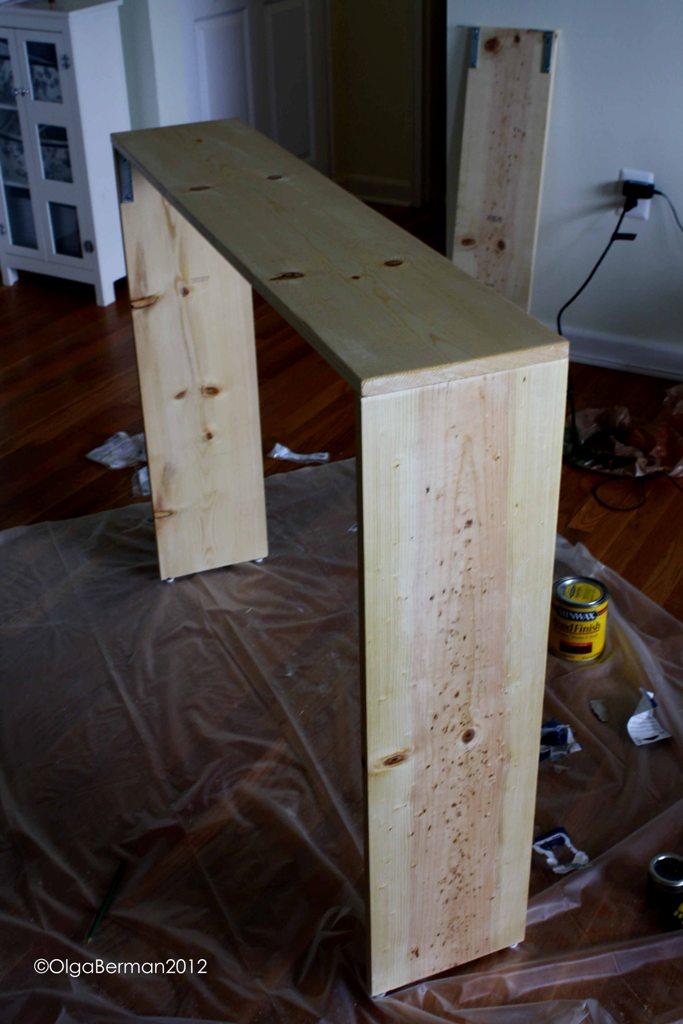 Long Sofa Table DIY