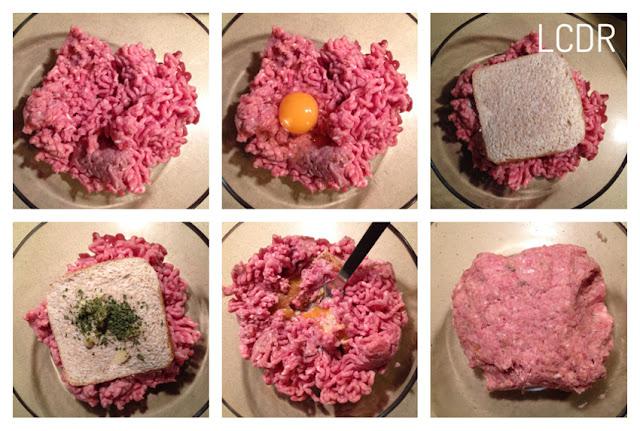 Receta de filetes rusos rellenos de queso en pan brioche 1