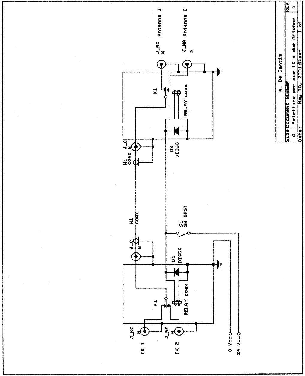 Schema Elettrico Selettore A Chiave : Air radiorama selettore per due rtx e antenne