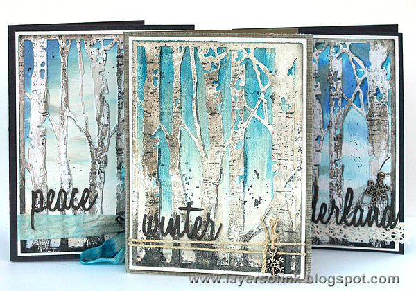Layers of ink - Winter Birch Trees Tutorial by Anna-Karin