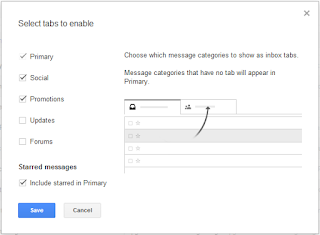 gmail tabbed inbox select tabs