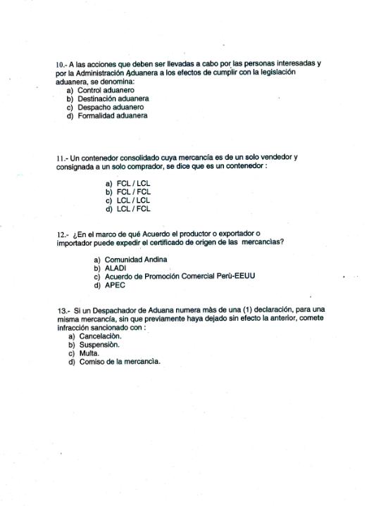 examen de auxiliar de servicios: