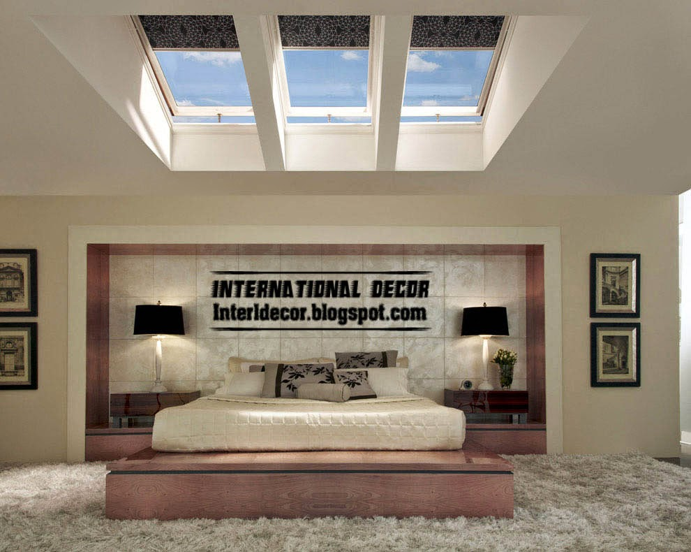 New designs of skylights and roof windows for bedroom