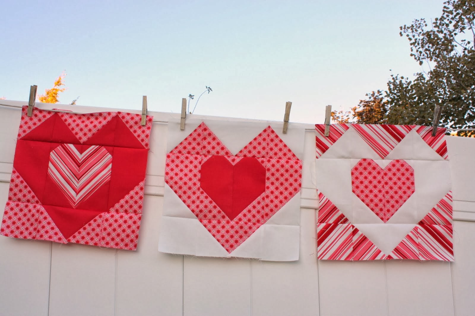 "12"" Heart Quilt Block"