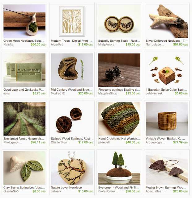 Forest themed giftguide on Etsy