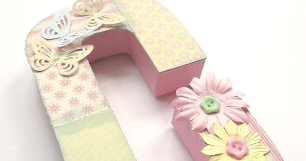 Flutterby crafts papier mache 3d letter 39 c 39 for 24 cardboard letters