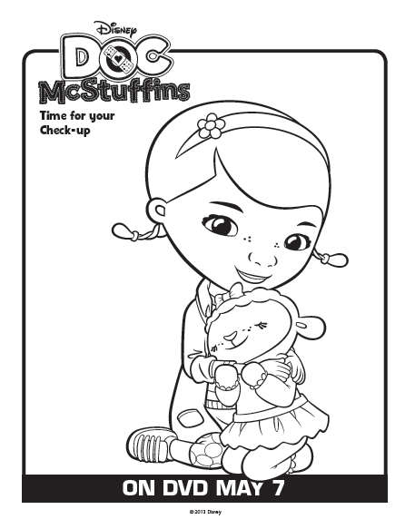 Doc Mcstuffins Coloring Pages Disney Junior : One savvy mom ™ nyc area free disney doc
