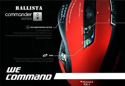 Mouse de alta precisión Shogun Bros. Ballista MK-1 para gamers