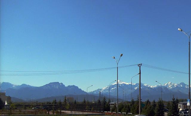 Горы Кавказа, вид из Магаса