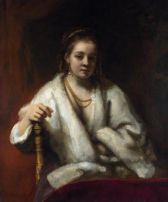 Rembrandt - Portrait D'Hendrickje Stoffels, 1654-6