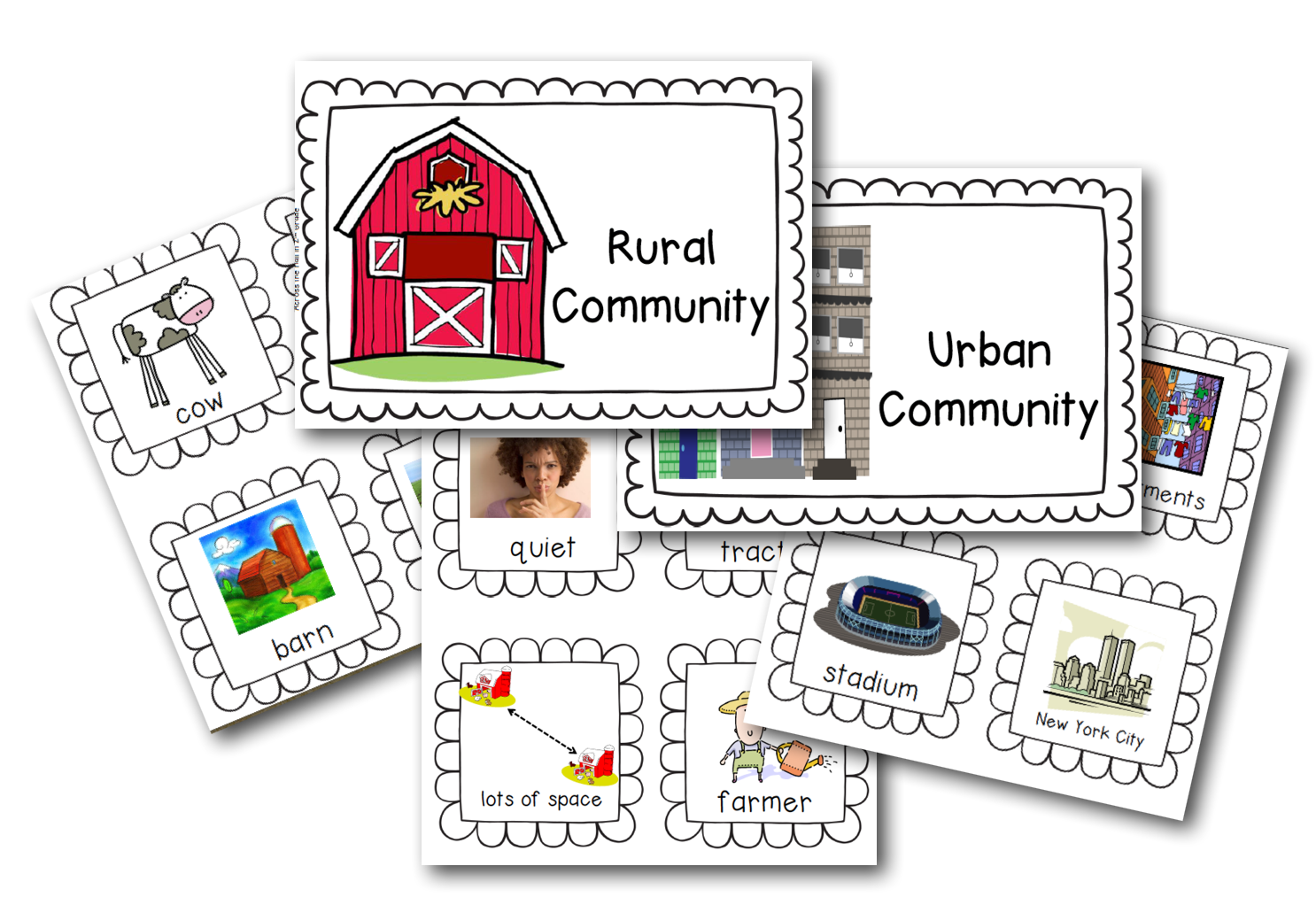 types of rural communities Three types of communities are:  rural communities may have community parks and fields or county fairs where do you play questions:.