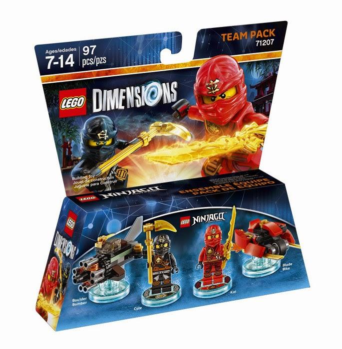 TOYS - LEGO Dimensions  71207 Ninjago Team Pack | Figuras - Muñecos   [3 noviembre 2015] Juguetes & Videojuegos  Xbox One, PlayStation 4, Nintendo Wii U, PlayStation 3, Xbox 360  Includes: Kai, Cole, Blade Bike and Boulder Bomber  Piezas: 97 | Edad: 7-14 años