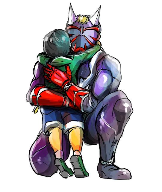 Gambar, Ilustrasi, Kamen Rider, Ksatria Baja Hitam,  Masa Kecil, Kamen Rider Hibiki