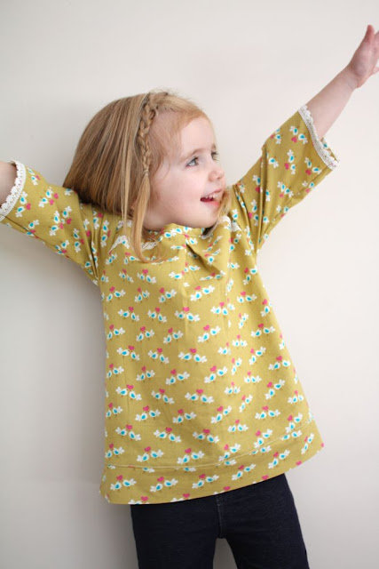 girl tunic pattern and tutorial