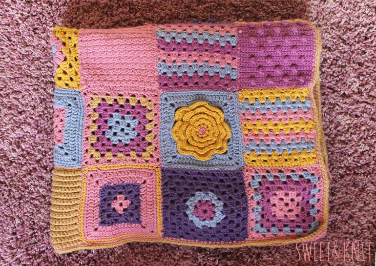 Como Hacer Cuadros De Crochet Para Mantas.Susimiu Manta Crochet Popurri De Muestras