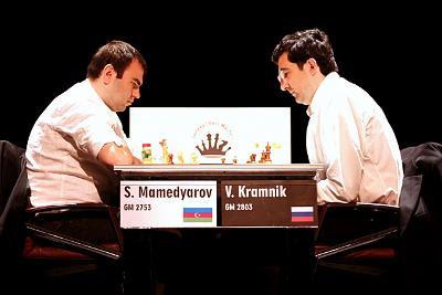 Echecs à Genève :Geneva Chess Masters : Mamedyarov 1,5-0,5 Kramnik