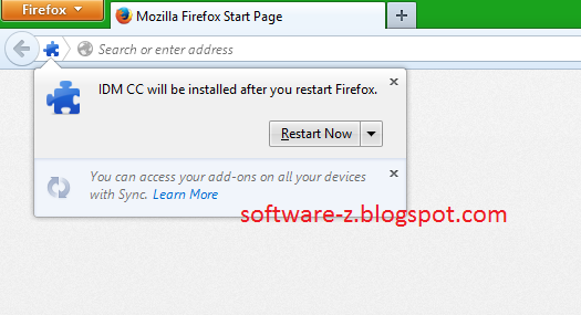 Add Ons IDM CC 7.3.61 for Mozilla Firefox 24, 25, 26 and 27