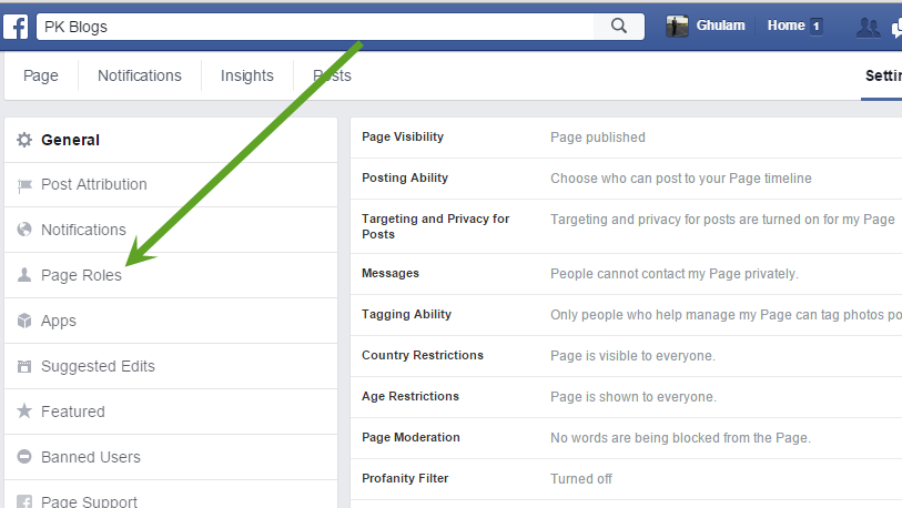 Transfer Facebook Page One Account to Another Facebook Account