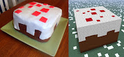 Minecraft Cake. I've never played the game but I made this cake for a .