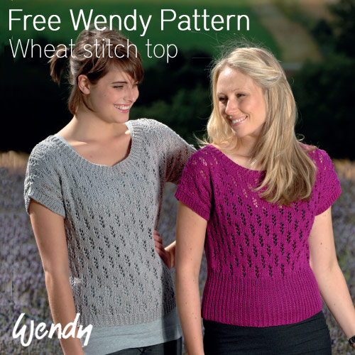 The Vintage Pattern Files 1930s Knitting Wheat Stitch Top