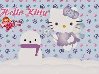 Gambar Hello Kitty Boneka Salju Wallpaper HD