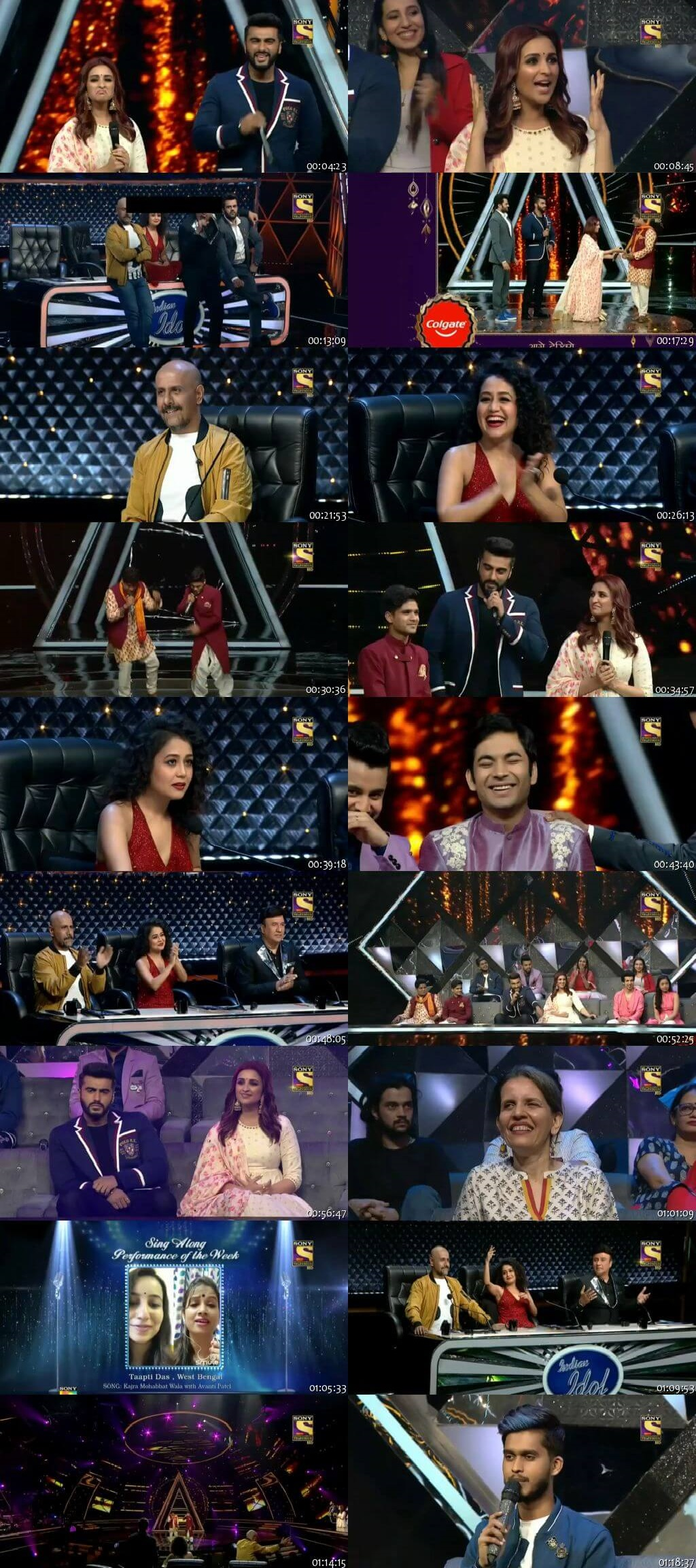 Screenshots Of Hindi Show Indian Idol 14th October 2018 Episode 30 300MB 480P HD