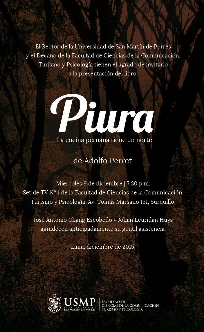 Per gourmand adolfo perret presenta su libro piura la - Libro cocina peruana pdf ...