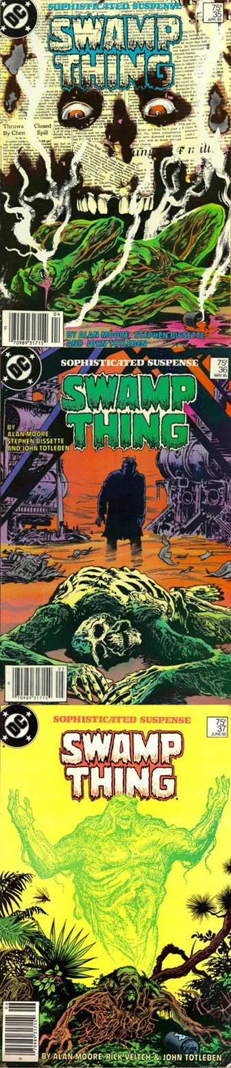 Saga of the Swamp Thing # 35, 36 37 - Moore, Bissette Totleben