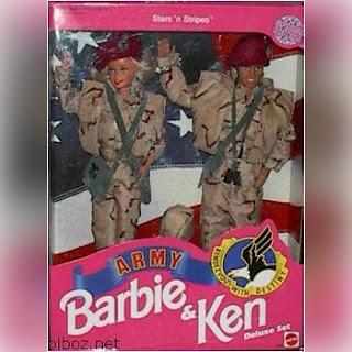 Barbie y Ken fuerzas armadas