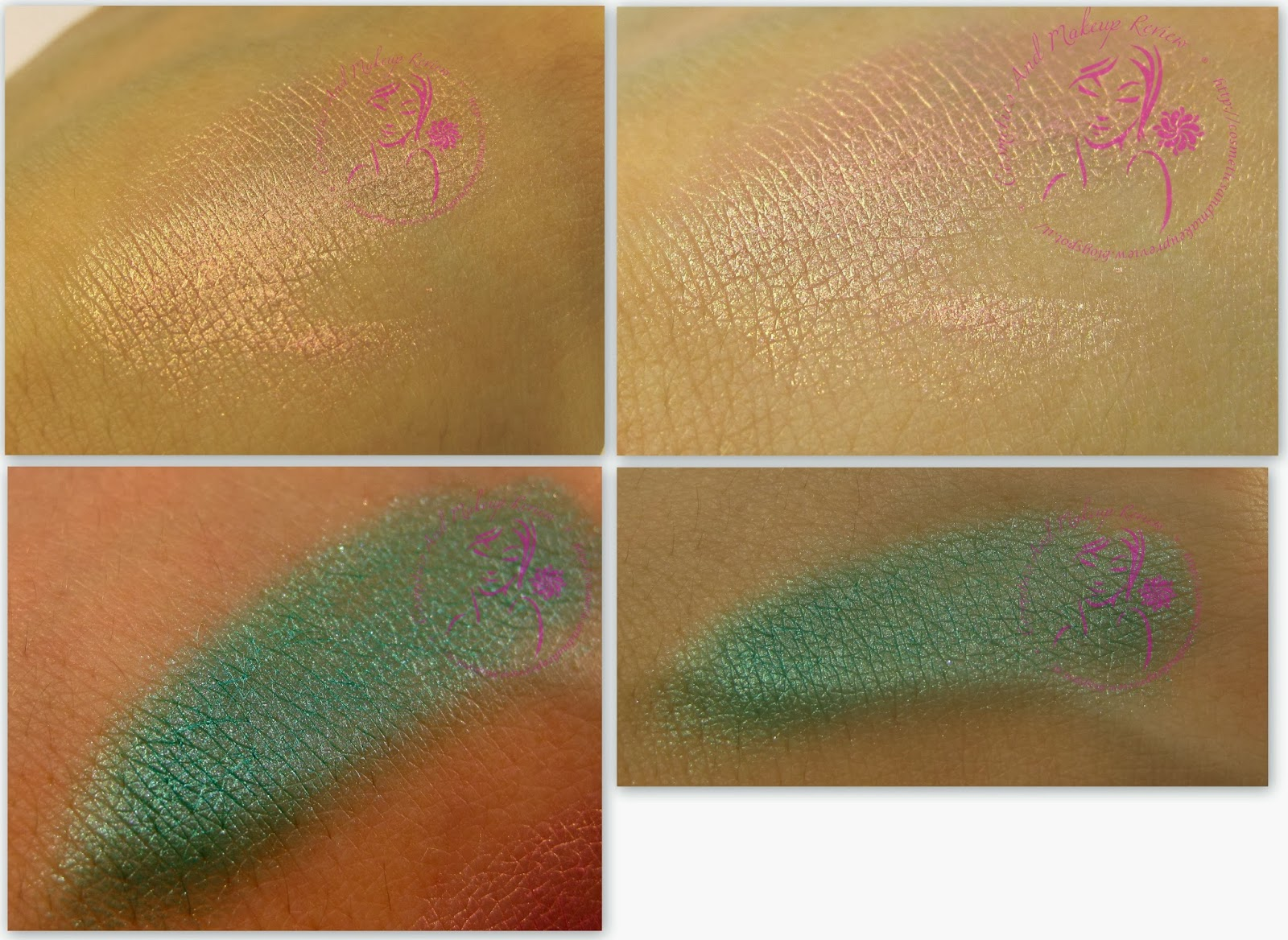 Astra Soul Color Waterproof Eyeshadow n° 02 e 04 - swatches