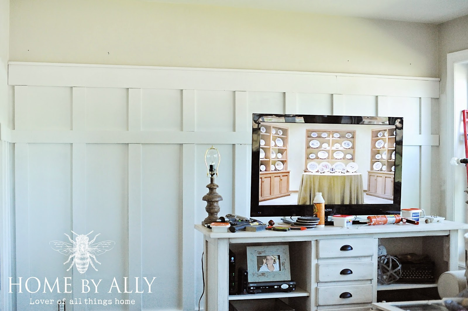 Sunroom Makeover: DIY Board and batten | Home by Ally